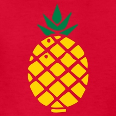 Red pineapple Kids Shirts