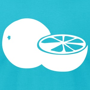 Turquoise oranges T-Shirts (Short sleeve) - Men's T-Shirt by American Apparel