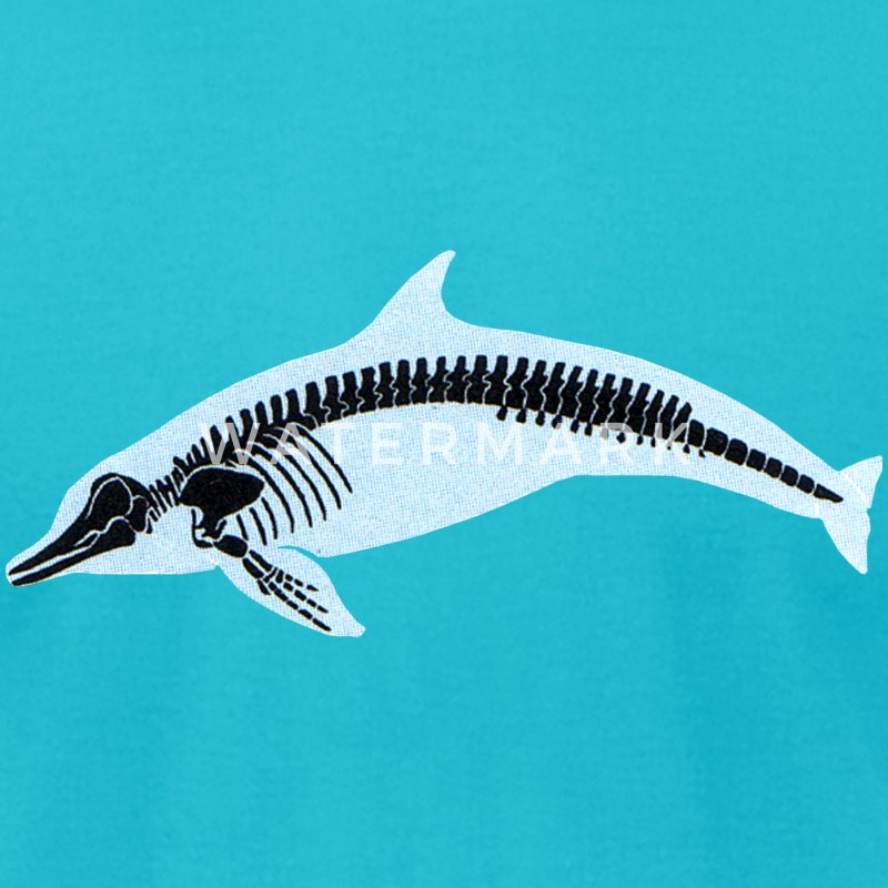 Turquoise Dolphin X-Ray T-Shirts - Men's T-Shirt by American Apparel