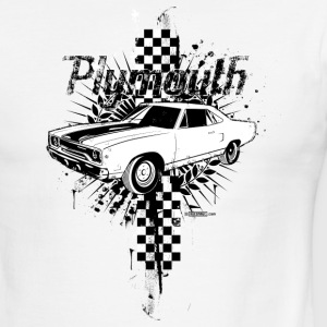 White/black auto_plymouth_distressed_01 T-Shirts (Short sleeve) - Men's Ringer T-Shirt