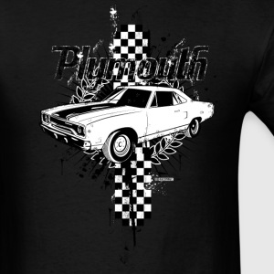 Black auto_plymouth_distressed_01 T-Shirts (Short sleeve) - Men's T-Shirt