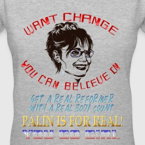 Want Change You Can Believe In? - Women's V-Neck T-Shirt