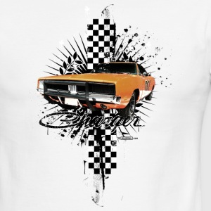 White/black auto_charger_distressed_02 T-Shirts (Short sleeve) - Men's Ringer T-Shirt