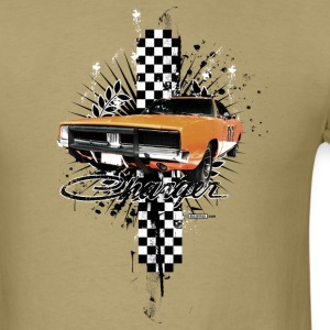 Khaki auto_charger_distressed_02 T-Shirts (Short sleeve) - Men's T-Shirt