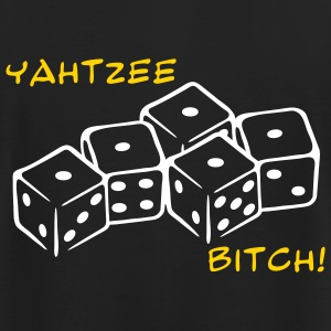 Black Yahtzee Bitch 2 Color T-Shirts (Short sleeve) - Men's T-Shirt by American Apparel