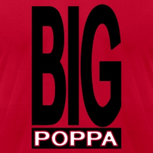 Red Big Poppa With Outline T-Shirts (Short sleeve) - Men's T-Shirt by American Apparel