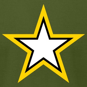 Army Star - Men's T-Shirt by American Apparel