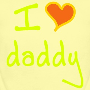 I love daddy - Short Sleeve Baby Bodysuit