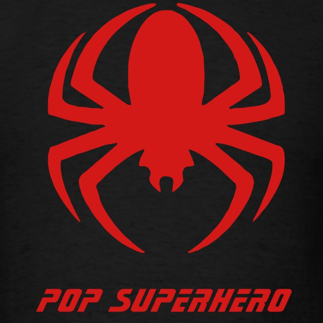 "Spiderman Symbol on Black Shirt ""Pop Superhero"""