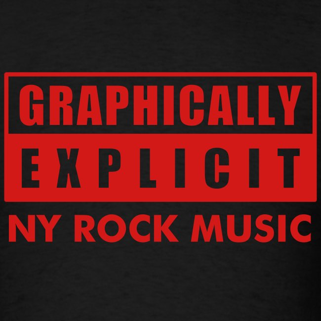 """Graphically Explicit Black Shirt """"NY Rock Music"""""""