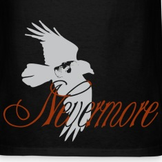 Black nevermore T-Shirts (Short sleeve)