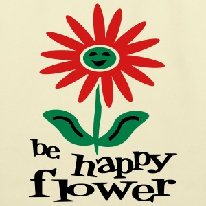 Creme Be Happy Flower Bags  - Eco-Friendly Cotton Tote
