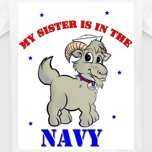 My sister is in the navy. - Kids' T-Shirt
