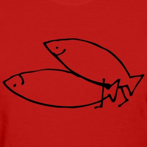 Red fishy love Women's Tees (Short sleeve) - Women's T-Shirt