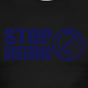 Stop Breeding Lightweight Ringer Tee - Men's Ringer T-Shirt