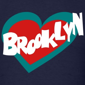 Navy Brooklyn Heart T-Shirts (Short sleeve) - Men's T-Shirt