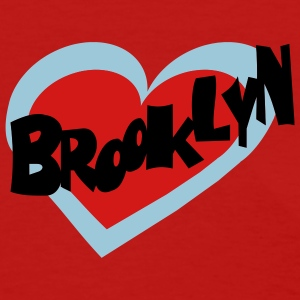 Red Brooklyn Heart Women's Tees (Short sleeve) - Women's T-Shirt