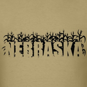 Khaki geo_nebraska_corn_01_black T-Shirts (Short sleeve) - Men's T-Shirt