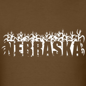 Brown geo_nebraska_corn_01_white T-Shirts (Short sleeve) - Men's T-Shirt