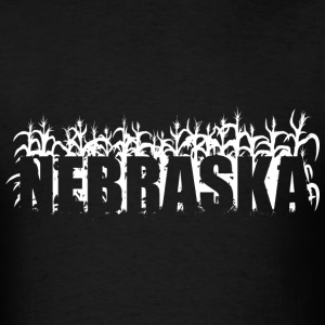 Black geo_nebraska_corn_01_white T-Shirts (Short sleeve) - Men's T-Shirt