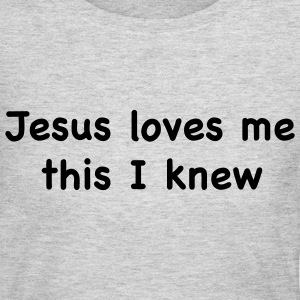Gray jesus loves me Tees (Long sleeve) - Women's Long Sleeve Jersey T-Shirt