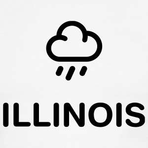 White/black geo_illinois_rain_1c01 T-Shirts (Short sleeve) - Men's Ringer T-Shirt