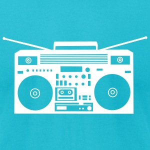 Turquoise Boombox Plot Version T-Shirts (Short sleeve) - Men's T-Shirt by American Apparel