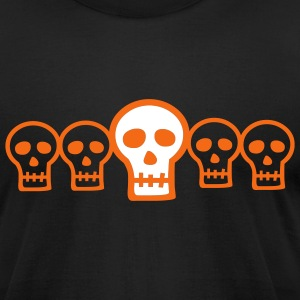 Halloween Row of Skulls - Men's T-Shirt by American Apparel