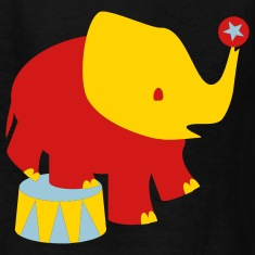 Black Baby Circus Elephant Kids Shirts