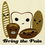 Design ~ Bring the Pain Natural Tote (Large)