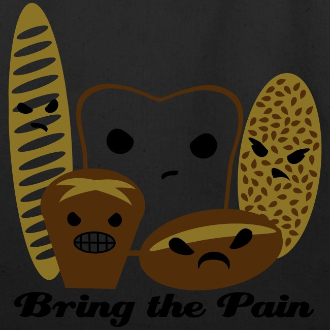 Bring the Pain Natural Tote (Large)