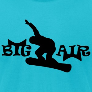 Turquoise Big Air Snowboarder 2 T-Shirts (Short sleeve) - Men's T-Shirt by American Apparel
