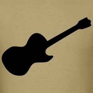 Khaki Rock Guitar T-Shirts (Short sleeve) - Men's T-Shirt