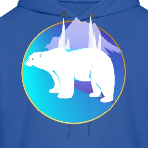 Polar Bear in A Circle  - Men's Hoodie