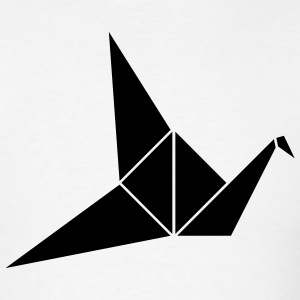 White Paper Crane T-Shirts (Short sleeve) - Men's T-Shirt