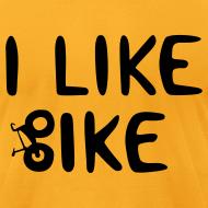 Design ~ I Like Bike men's tee