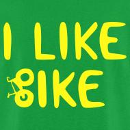 Design ~ I Like Bike men's lightweight DESIGN ON BACK!