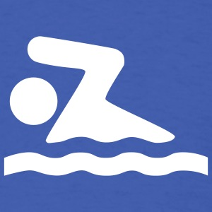 Royal blue Swimmer Symbol T-Shirts (Short sleeve) - Men's T-Shirt