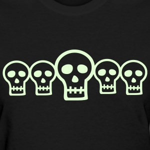 Glow in the Dark Skulls  - Women's T-Shirt
