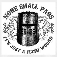 Design ~ BLACK KNIGHT HELMET - NONE SHALL PASS, IT'S JUST A FLESH WOUND