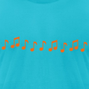 Musical Notes - Men's T-Shirt by American Apparel