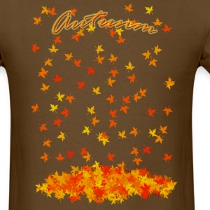 Brown Autumn T-Shirts (Short sleeve) - Men's T-Shirt