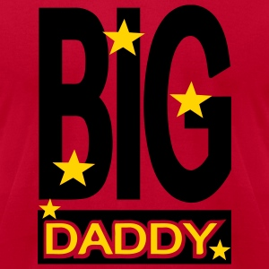 Red Big Daddy With Stars T-Shirts (Short sleeve) - Men's T-Shirt by American Apparel