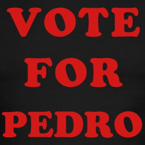White/navy Vote for Pedro T-Shirts (Short sleeve) - Men's Ringer T-Shirt