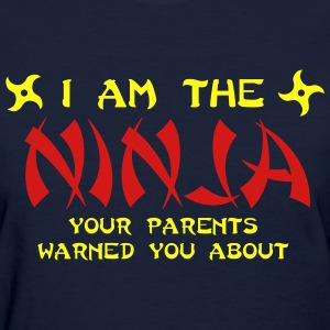 Navy I am the ninja your parents warned you about Women's Tees (Short sleeve) - Women's T-Shirt