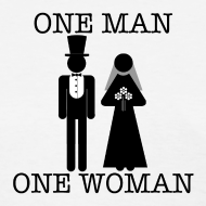 Design ~ One Man, One Woman - Women's Lightweight Tee