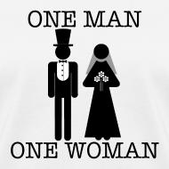 Design ~ One Man, One Woman - Women's Lightweight Tee