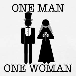 One Man, One Woman - Women's Lightweight Tee - Women's T-Shirt