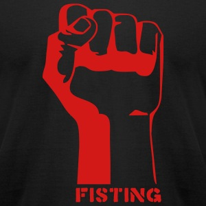 Black fisting porn T-Shirts (Short sleeve) - Men's T-Shirt by American Apparel