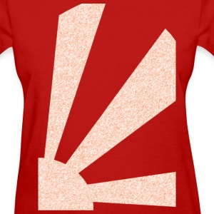 Red Rising Sun Ver.2 Women's Tees (Short sleeve) - Women's T-Shirt